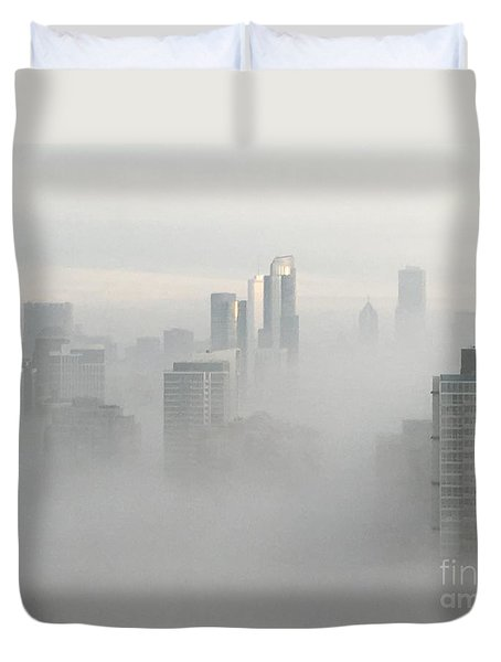Chicago In The Clouds Duvet Cover