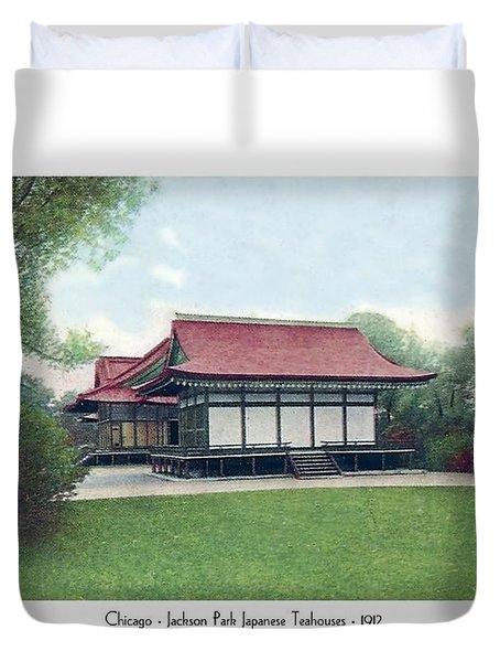 Chicago - Japanese Tea Houses - Jackson Park - 1912 Duvet Cover