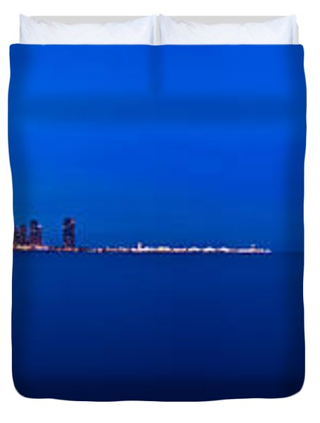 Chicago Lakefront Ultra Wide Hd Duvet Cover by Steve Gadomski