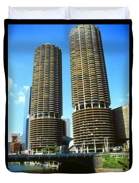 Chicago Poster - Marina City Duvet Cover