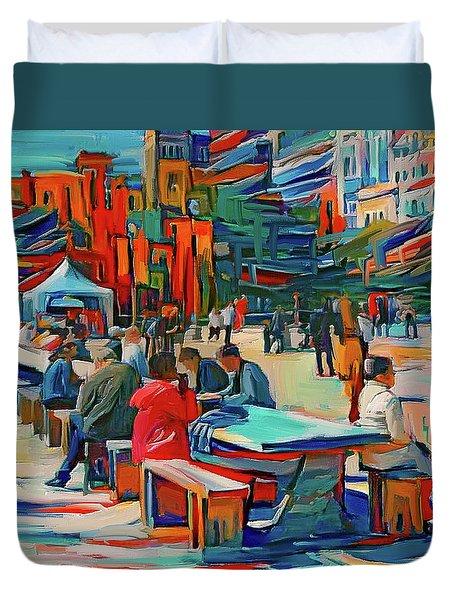 Chicago Millennium Sunday Duvet Cover
