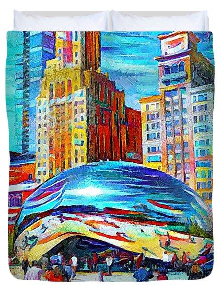 Chicago Millennium  Duvet Cover