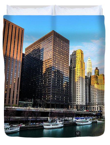 Chicago Navy Pier Duvet Cover