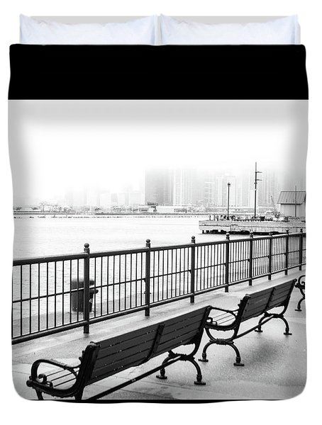 Duvet Cover featuring the photograph Chicago Navy Pier by Dawn Romine