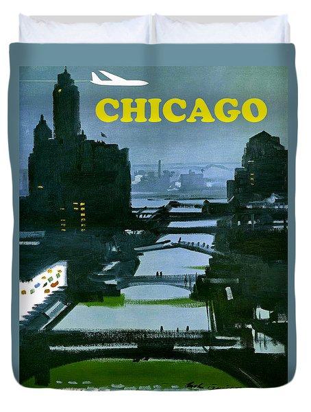 Chicago Night Duvet Cover
