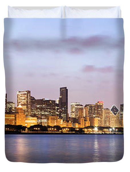 Chicago Panorama Duvet Cover by Paul Velgos