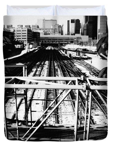 Chicago Railroad Yard Duvet Cover
