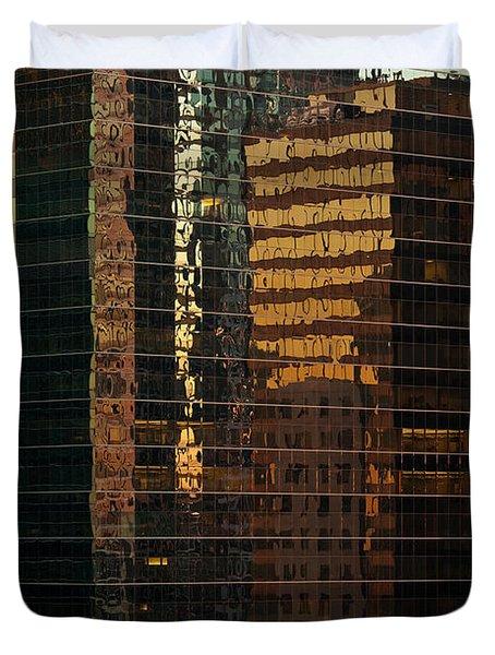 Chicago Reflected Duvet Cover by Steve Gadomski