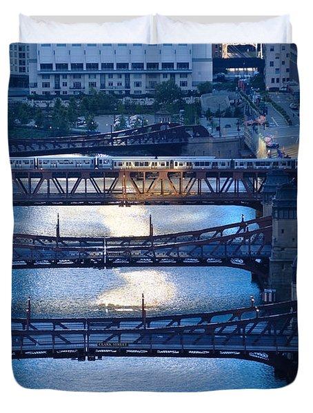 Chicago River First Light Duvet Cover