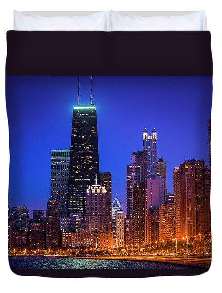 Chicago Shoreline Skyscrapers Duvet Cover