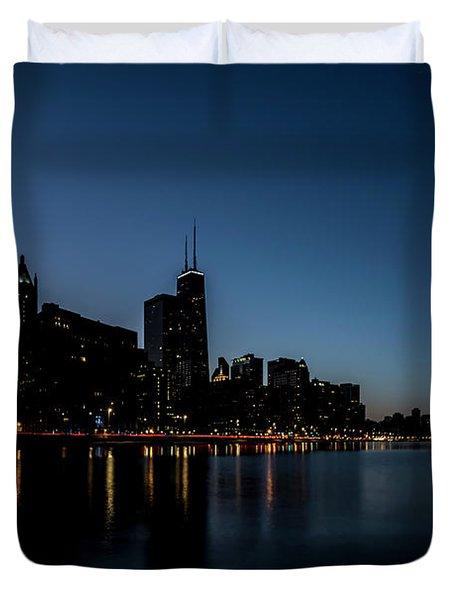 Chicago Skyline From Olive Park  Duvet Cover
