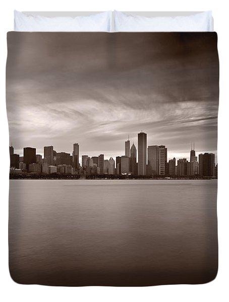 Chicago Storm Duvet Cover by Steve Gadomski