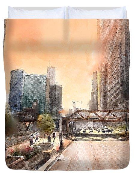 Chicago Street 2 Duvet Cover