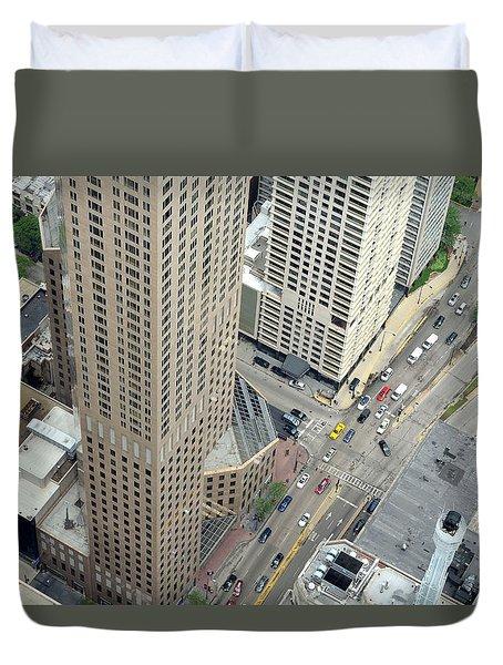 Chicago Streets Duvet Cover