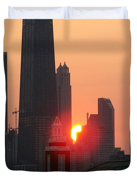 Chicago Sunset Duvet Cover by Glory Fraulein Wolfe