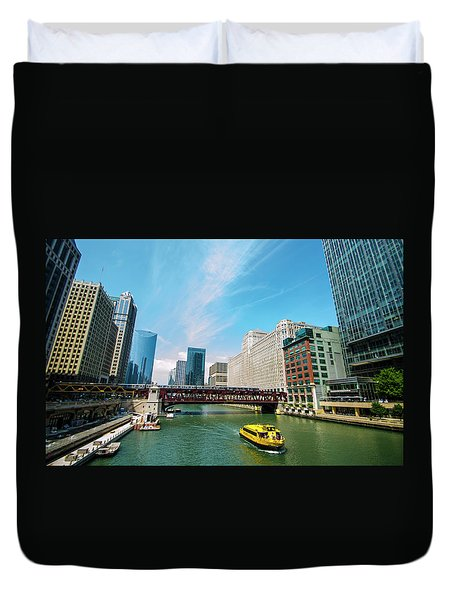 Chicago, That Toddlin' Town Duvet Cover