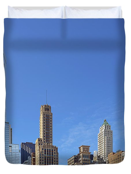 Chicago The Beautiful Duvet Cover by Christine Till