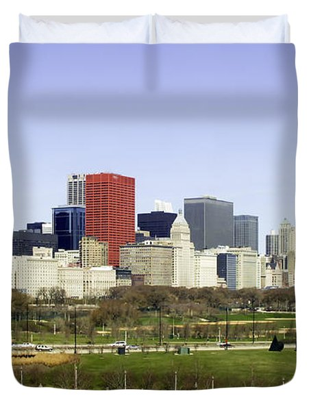 Chicago- The Windy City Duvet Cover