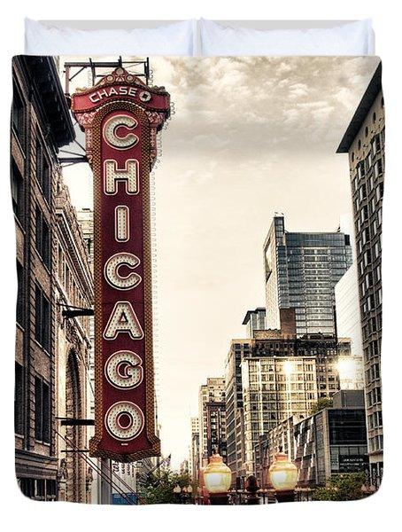 Chicago Theater Duvet Cover