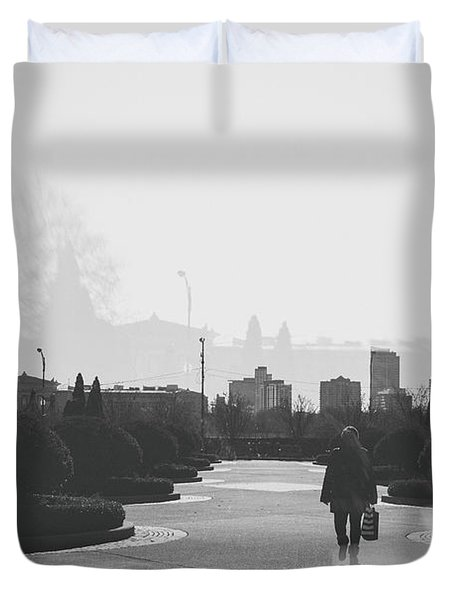 Chicago Walk Duvet Cover