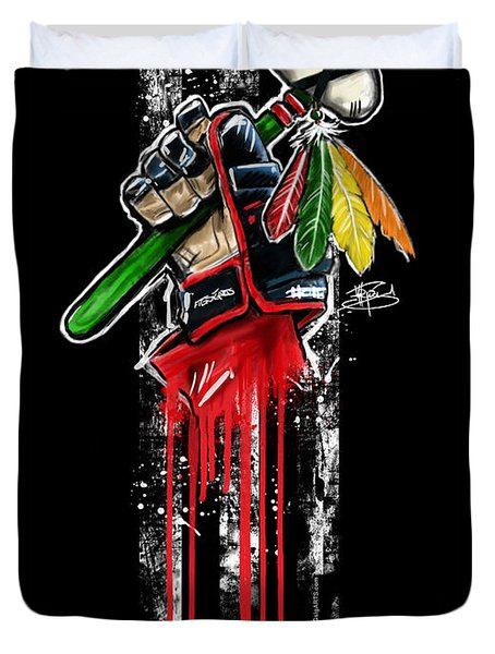 Warrior Glove Origins Duvet Cover by Michael Figueroa