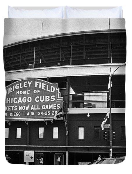 Chicago: Wrigley Field Duvet Cover