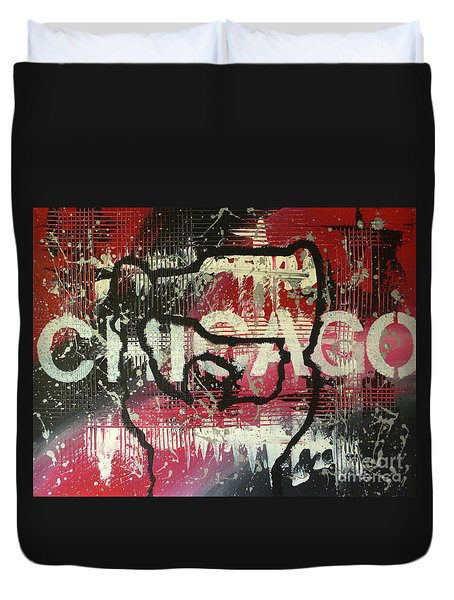 Chicago's Cup Duvet Cover by Melissa Goodrich