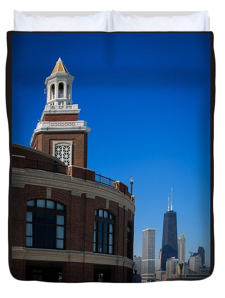 Duvet Cover featuring the photograph Chicago's Navy Pier by Kathleen Scanlan