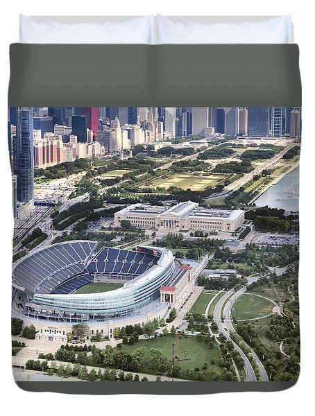 Chicago's Soldier Field Duvet Cover