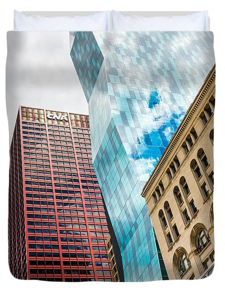 Chicago's South Wabash Avenue  Duvet Cover