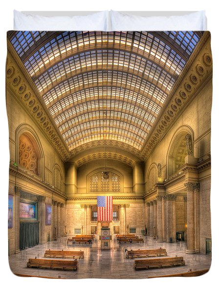Chicagos Union Station Duvet Cover by Steve Gadomski