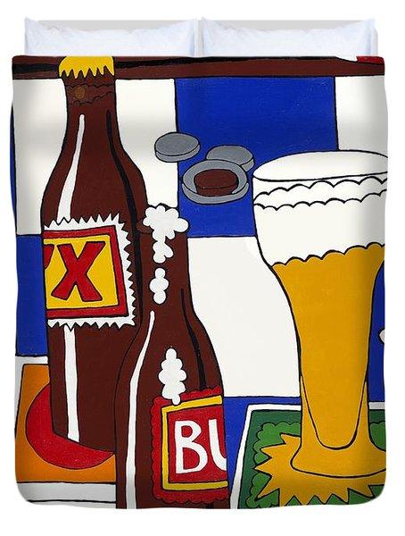 Chichis Y Cervesas Duvet Cover