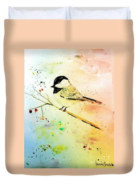 Chick-a-dee Duvet Cover