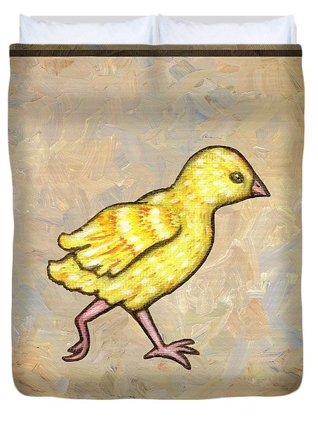 Chick Four Duvet Cover by Linda Mears