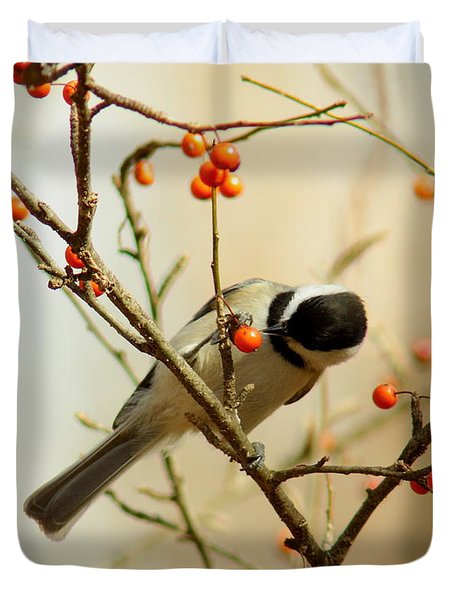 Chickadee 1 Of 2 Duvet Cover