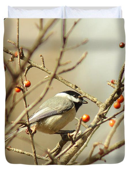 Chickadee 2 Of 2 Duvet Cover