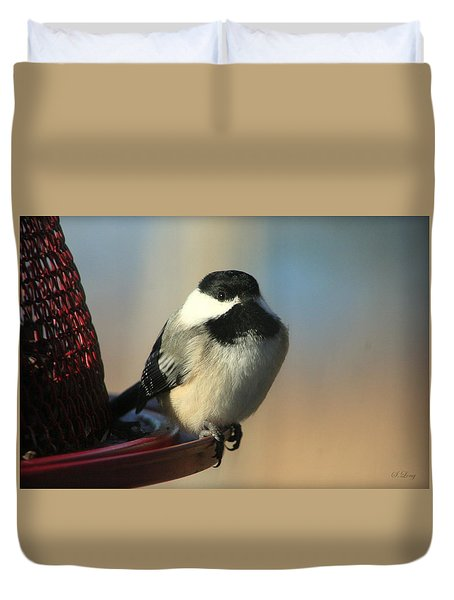 Chickadee Dream Duvet Cover
