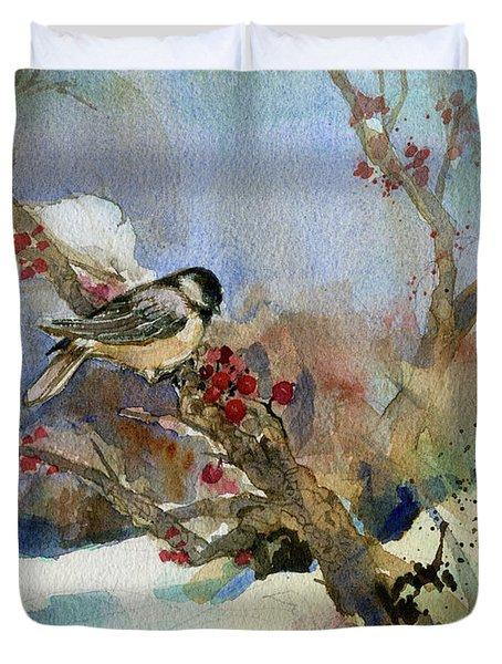 Chickadee Duvet Cover