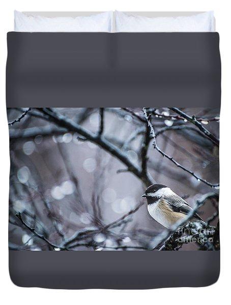 Chickadee Rain Duvet Cover