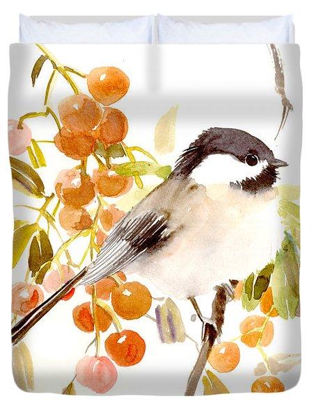 Chickadee Duvet Cover by Suren Nersisyan