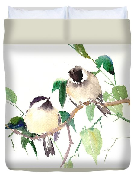 Chickadees Duvet Cover