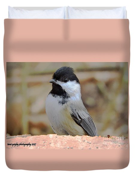 Chickadee's Winter Reverie Duvet Cover