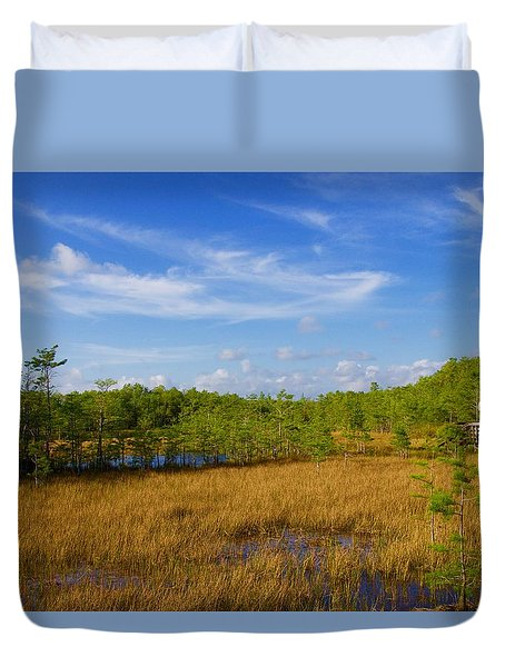 Chickee Hut Duvet Cover