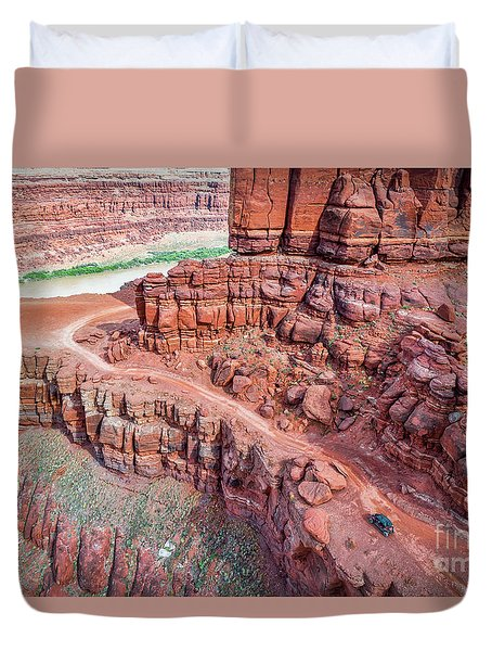 Chicken Corner Trail And Colorado River Duvet Cover