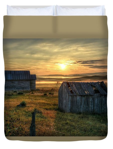 Chicken Creek Schoolhouse Duvet Cover