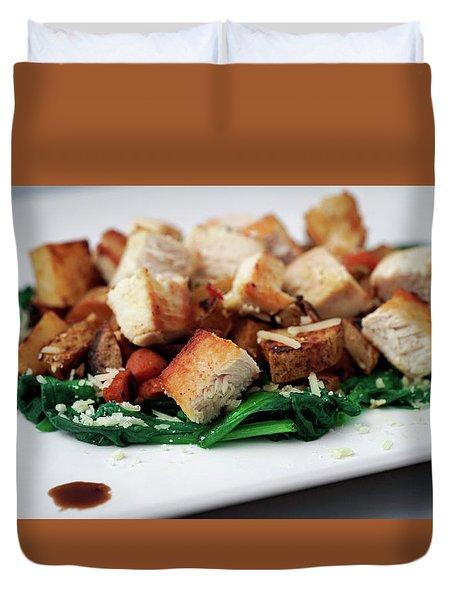 Chicken N Hash Duvet Cover