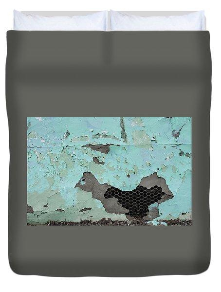 Chicken Wire Duvet Cover by Ralph Vazquez