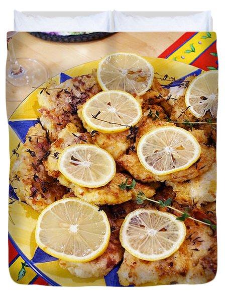 Chicken With Lemon Duvet Cover