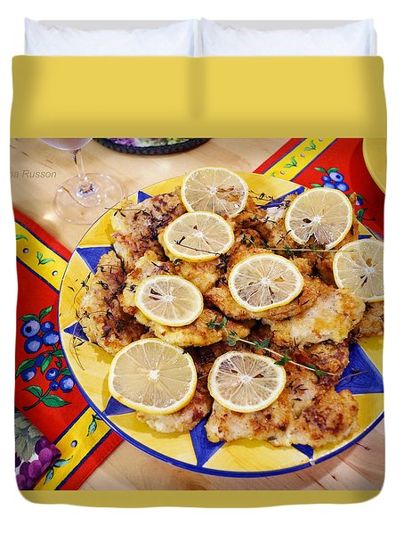Chicken With Lemon Duvet Cover