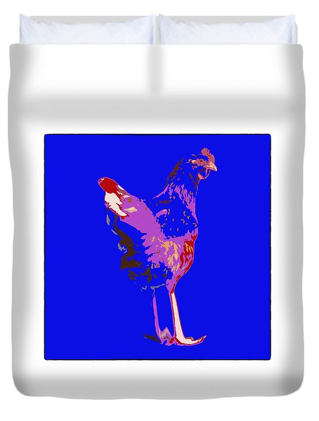 Chicken With Tall Legs Duvet Cover
